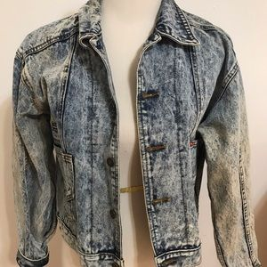 Vintage acid washed denim jacket.